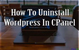 How To Uninstall WordPress In Cpanel